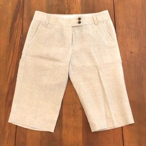 J. Crew City Fit Linen Capri Pants
